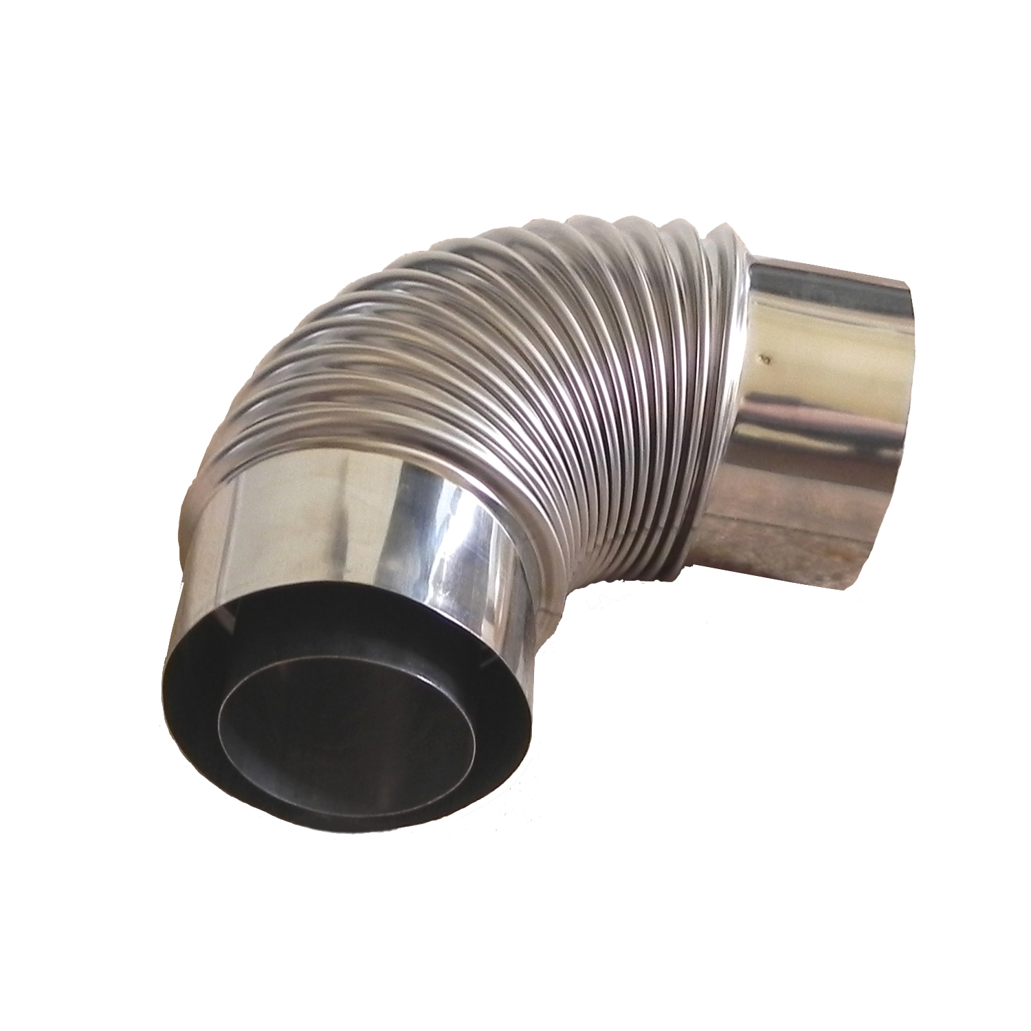 90 coaxial stainless steel direct vent pipe elbow